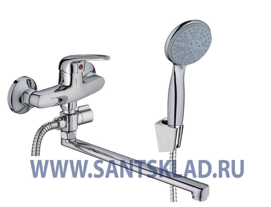 Купить смеситель однорычажный на ванную Душевая дверь в нишу GuteWetter Trend Door GK-862AP левая 105 см стекло бесцветное Two, профиль хром